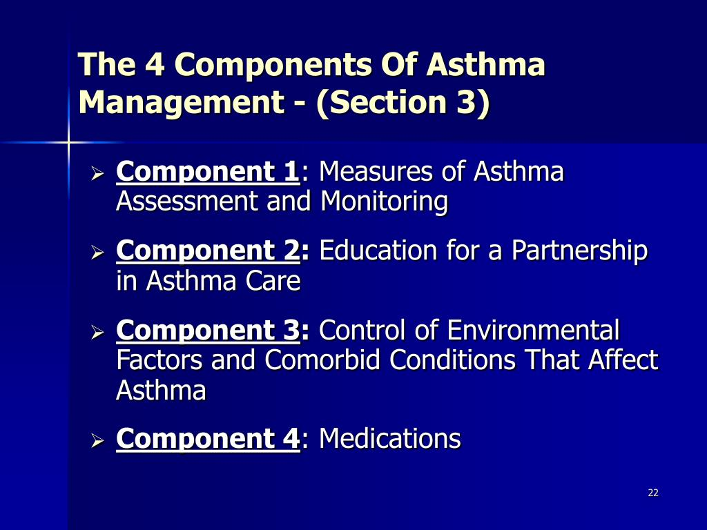 The 4 Components Of Asthma Management - (Section 3)