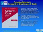 emerging methods in comparative effectiveness safety