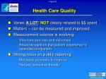 health care quality