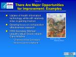 there are major opportunities for improvement examples