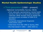 mental health epidemiologic studies6