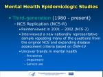 mental health epidemiologic studies7
