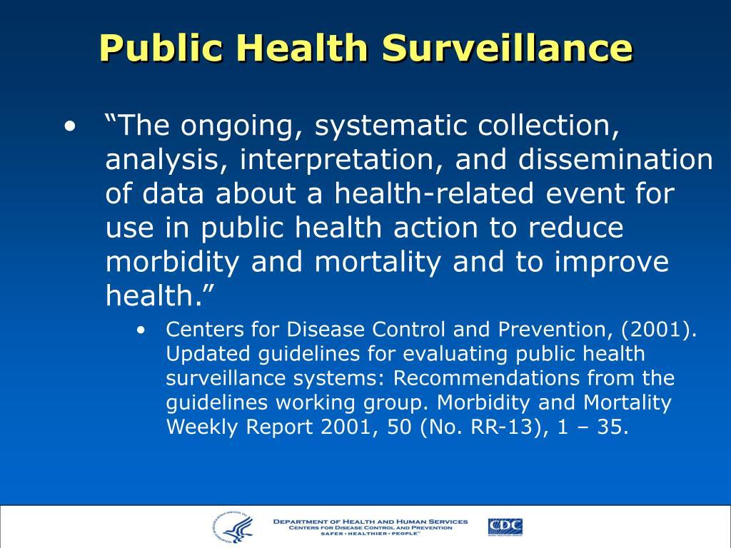 public health surveillance l.