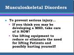 musculoskeletal disorders27