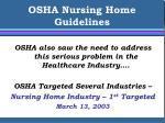 osha nursing home guidelines