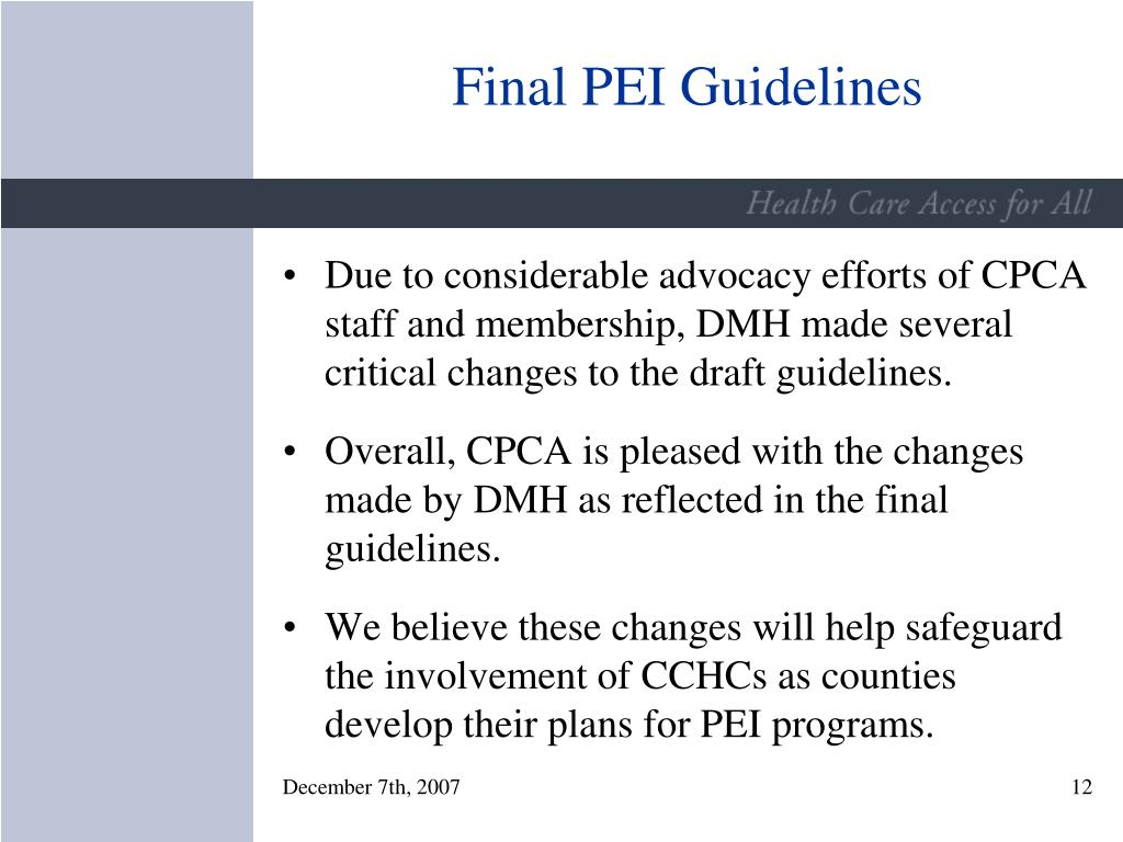 Final PEI Guidelines