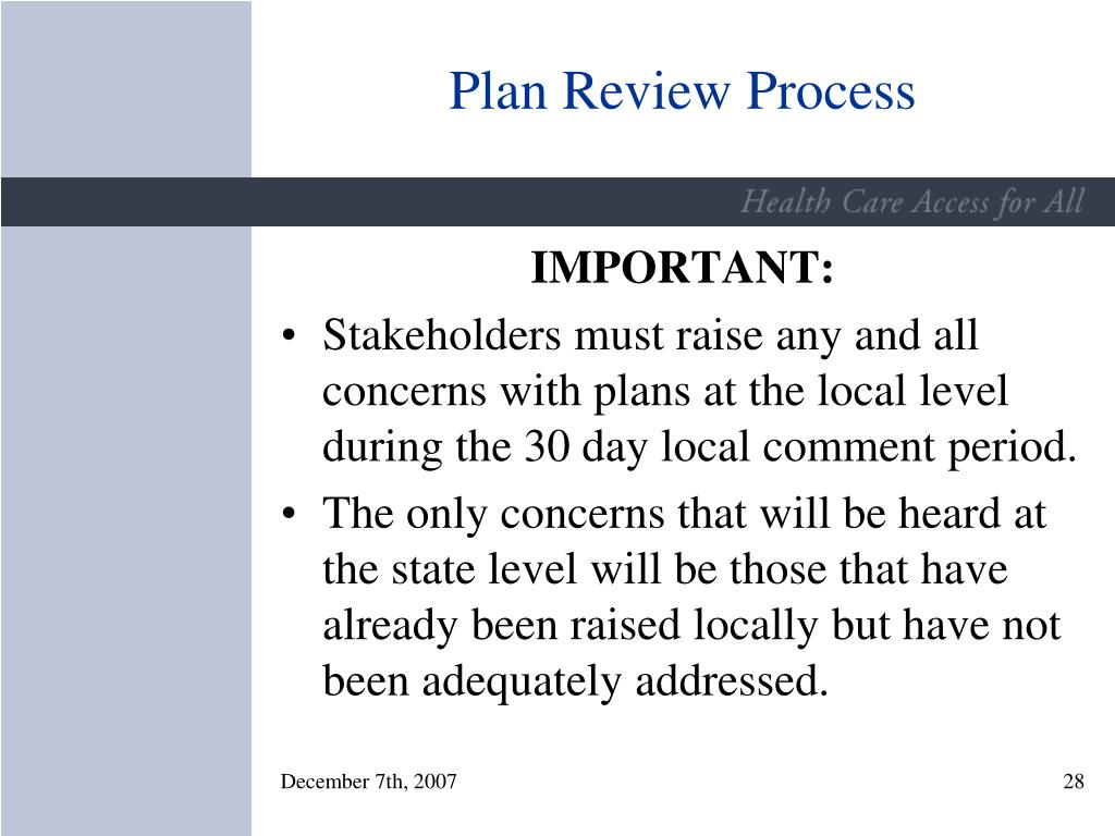 Plan Review Process