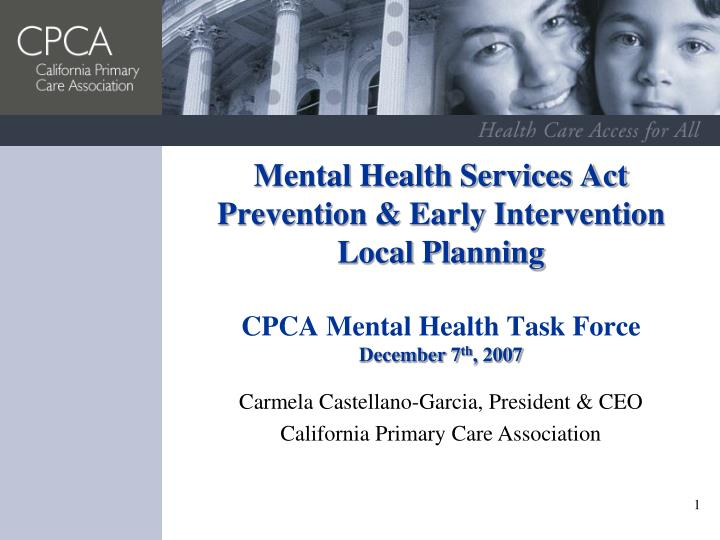 Mental Health Services Act