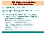 1998 state hospital code last major revision