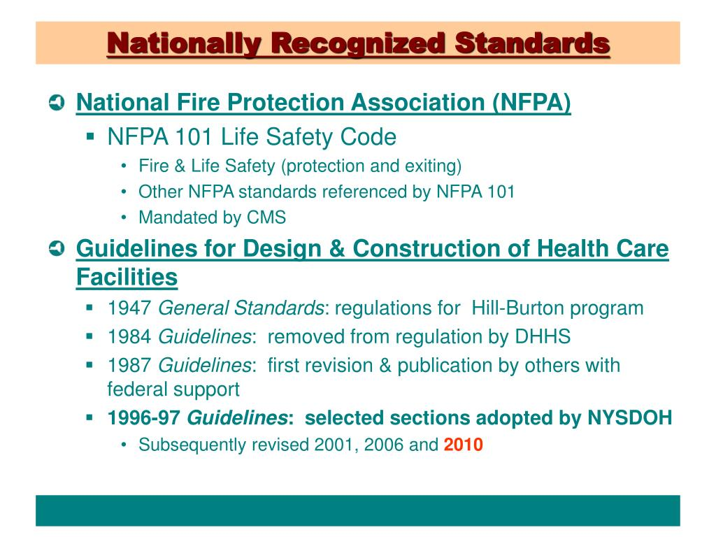 Nationally Recognized Standards