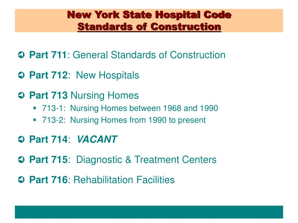 New York State Hospital Code