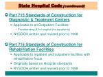 state hospital code continued7