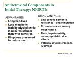 antiretroviral components in initial therapy nnrtis