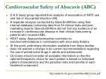 cardiovascular safety of abacavir abc