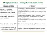 drug resistance testing recommendations
