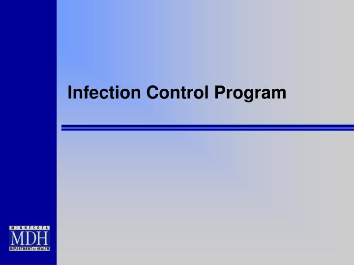infection control program n.