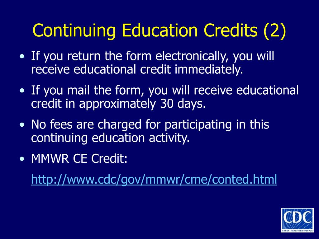 Continuing Education Credits (2)