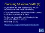 continuing education credits 2