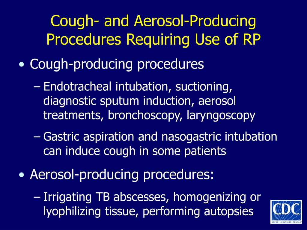 Cough- and Aerosol-Producing Procedures Requiring Use of RP