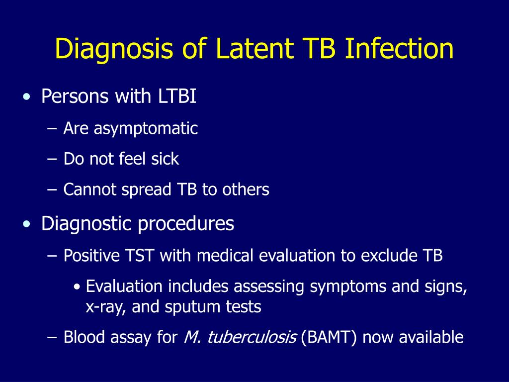Diagnosis of Latent TB Infection