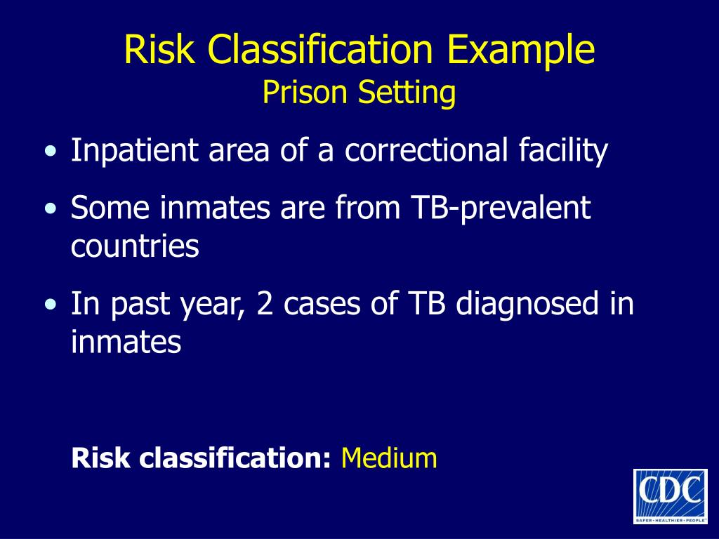 Risk Classification Example