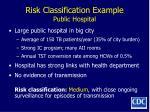 risk classification example public hospital