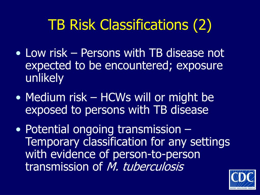 TB Risk Classifications (2)