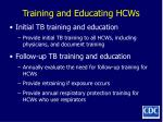 training and educating hcws