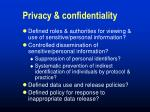 privacy confidentiality