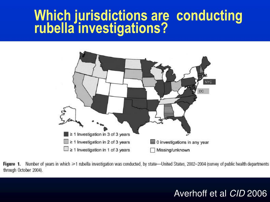 Which jurisdictions are  conducting rubella investigations?