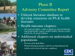 phase ii advisory committee report