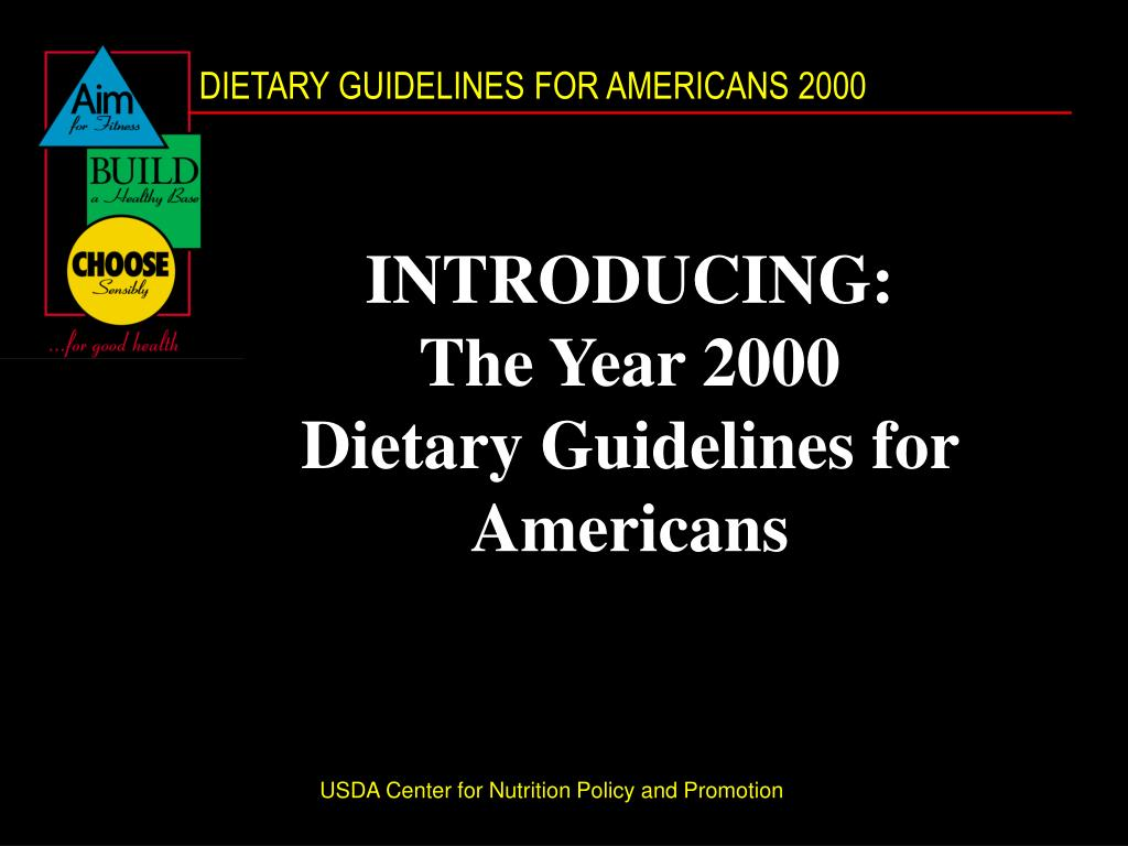 introducing the year 2000 dietary guidelines for americans l.