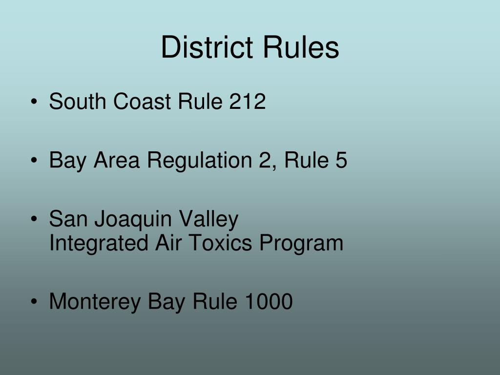 District Rules