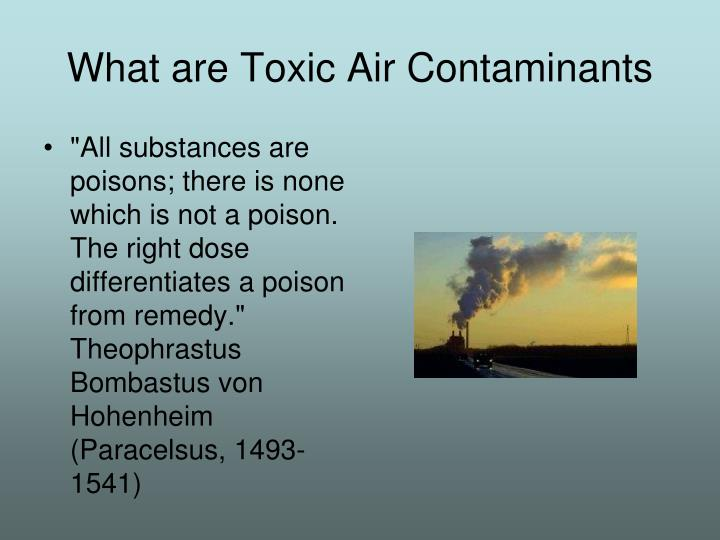 What are toxic air contaminants