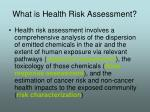 what is health risk assessment
