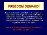 freedom demand