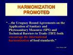 harmonization promoted