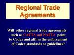 regional trade agreements