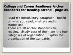 college and career readiness anchor standards for reading strand page 35