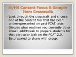 m hs content focus sample item crosswalk51