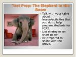 test prep the elephant in the room