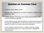 updates on common core
