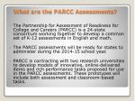 what are the parcc assessments
