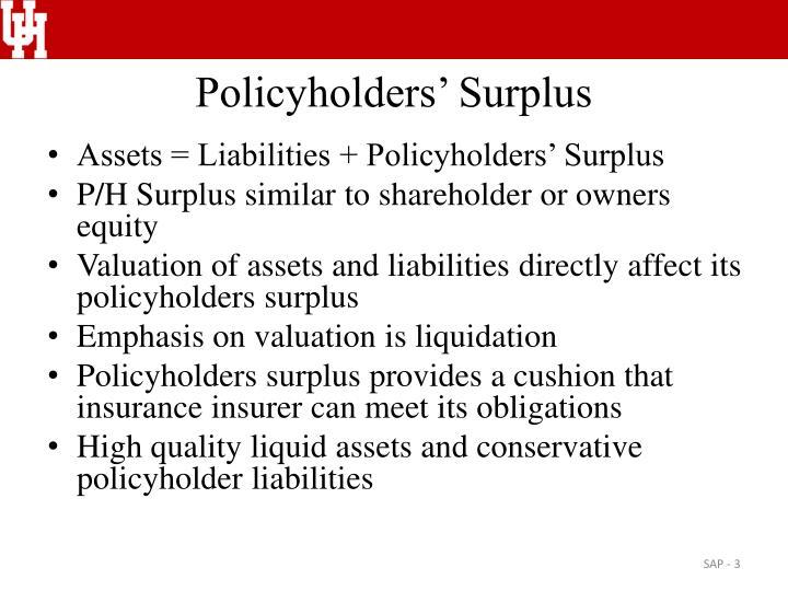 Policyholders surplus