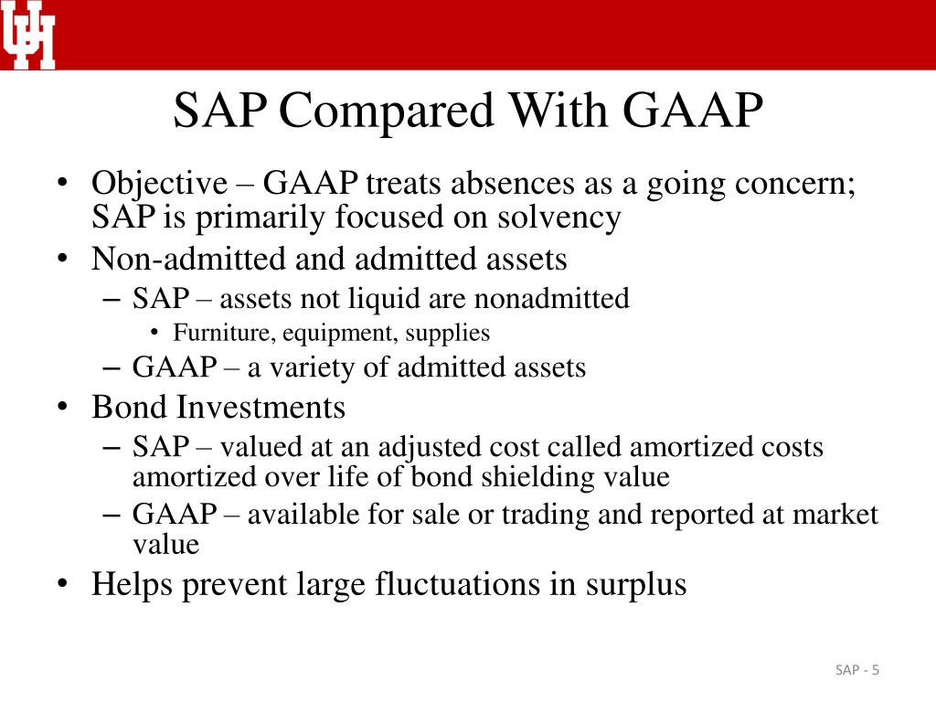 SAP Compared With GAAP