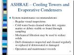 ashrae cooling towers and evaporative condensers