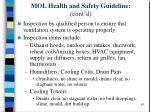 mol health and safety guideline cont d