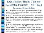 regulation for health care and residential facilities hcrf reg employers responsibilities