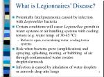 what is legionnaires disease