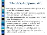 what should employers do